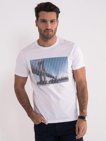 Muška majica sa printom mosta