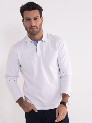 Bela majica sa kragnom