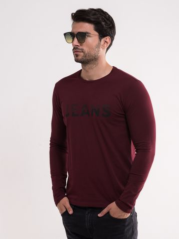 Muška tamno bordo majica