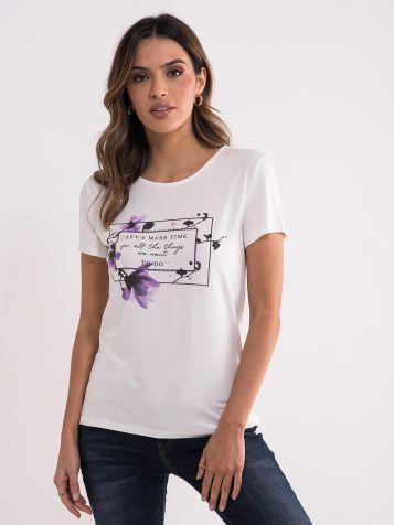 Bela majica sa romantičnim printom