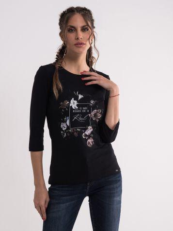 Majica sa cvetnim uzorkom