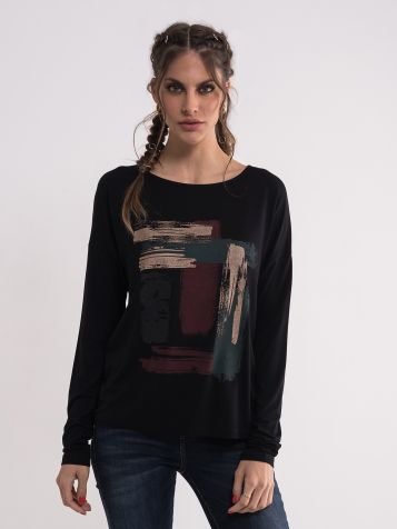 Crna majica sa printom