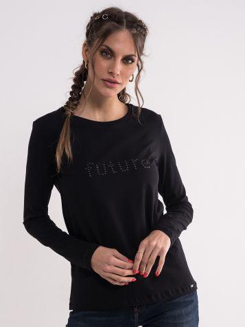Crna majica dugih rukava