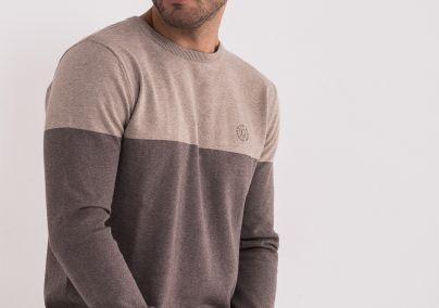 Pamučni braon džemper