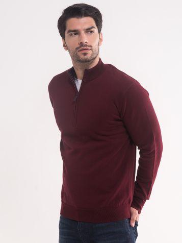 Muški tamno bordo džemper
