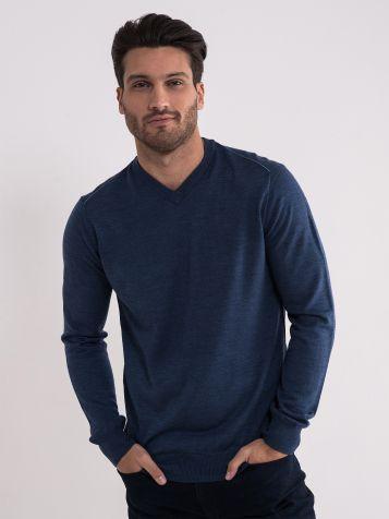 Muški teget džemper