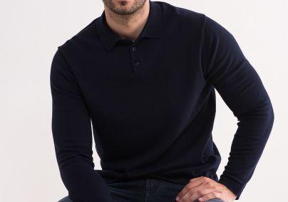 Teget džemper sa kragnom