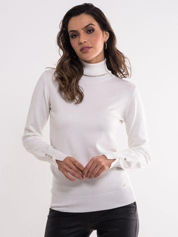 Beli džemper sa rolkom