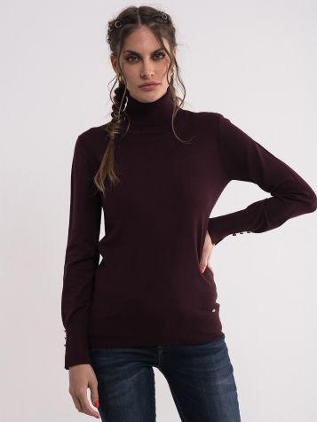 Džemper sa rolkom u tamno ljubičastoj boji
