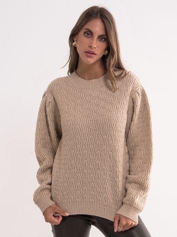 Moderan bež džemper