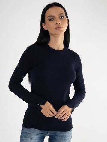 Ženski džemper u teget boji