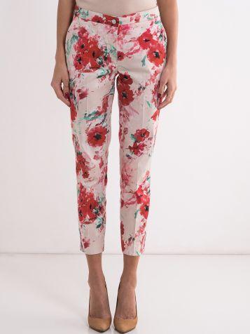 Pantalone sa cvetnim dezenom