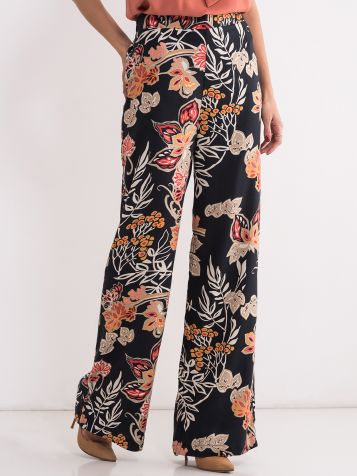 Ženske pantalone sa cvetnim dezenom