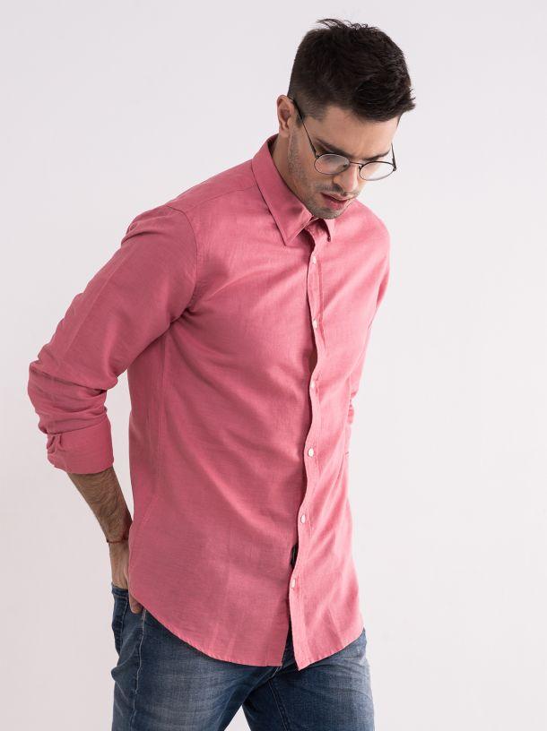 Klasična košulja u boji cigle