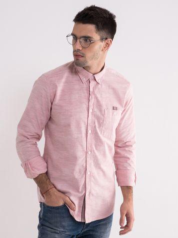 Pamučna košulja u boji cigle