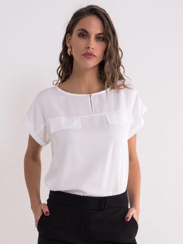 Bela klasična bluza