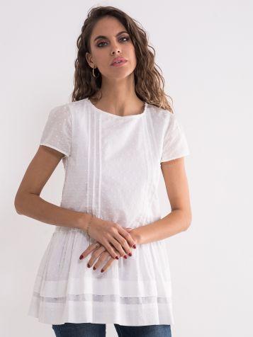 Romantična bela bluza