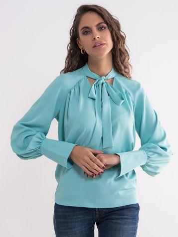 Tirkizna elegantna bluza