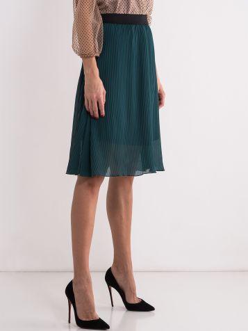 Zelena plisirana suknja
