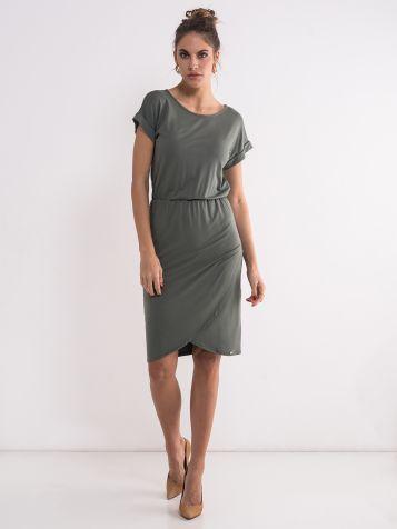 Jednostavna zelena haljina
