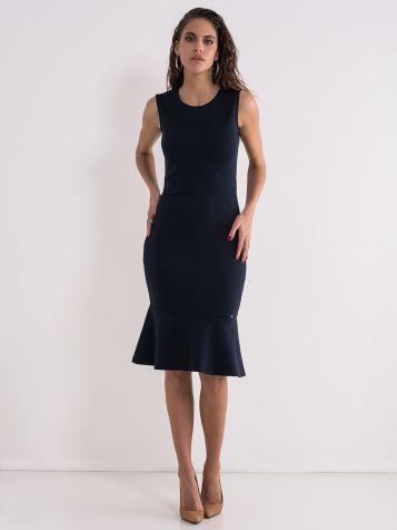 Uska haljina sa volanom