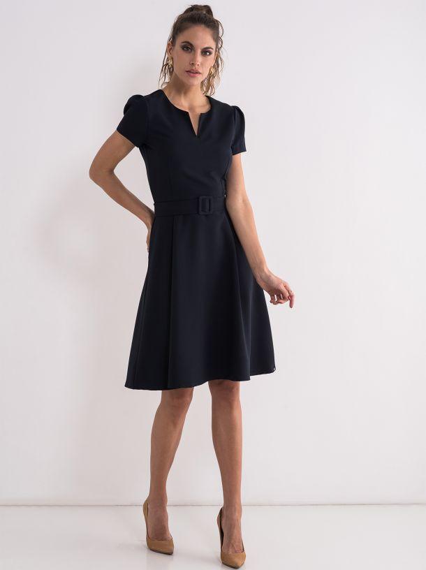 Poslovna teget haljina