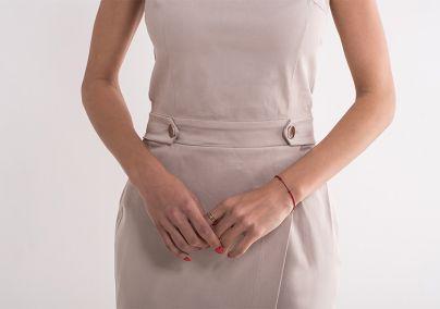 Elegantna bež haljina