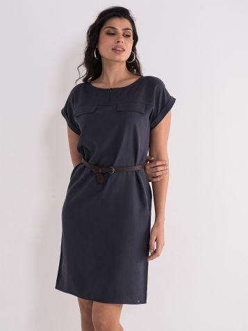 Casual drap_braon haljina