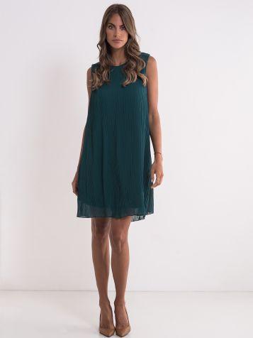 Zelena plisirana haljina