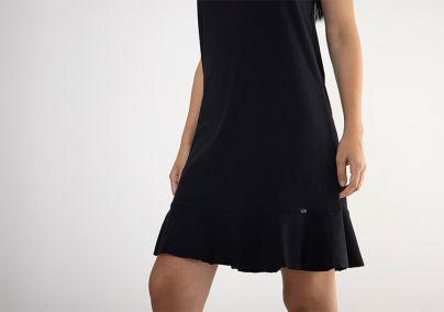 Pamučna crna haljina