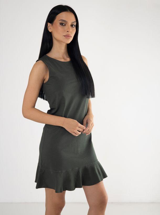 Pamučna zelena haljina