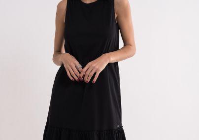 Crna pamučna haljina