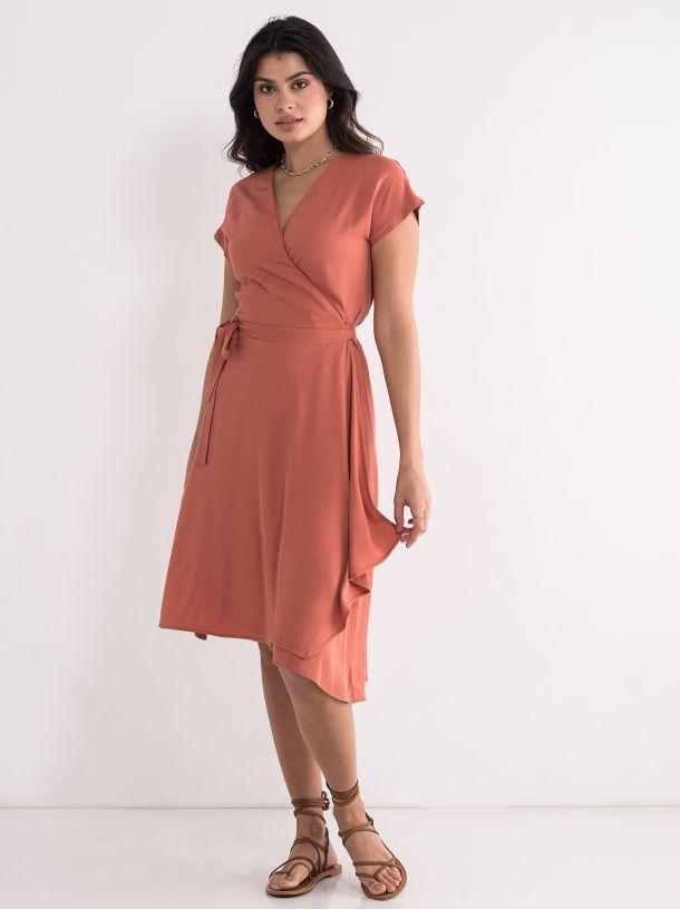 Lepršava haljina na preklop