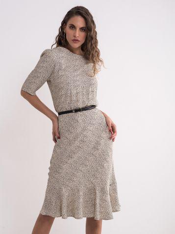 Elegantna haljina sa tufnicama