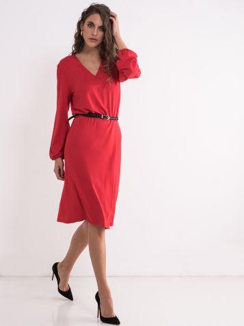 Ležerna crvena haljina