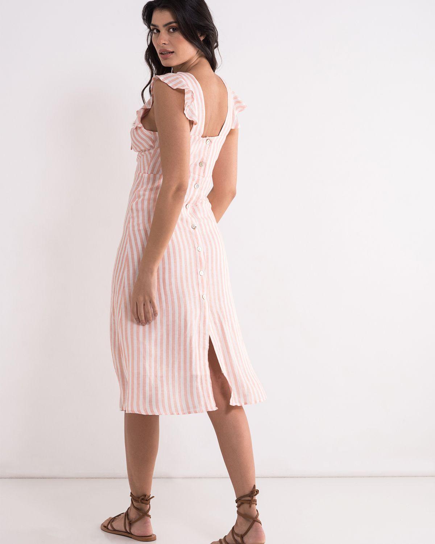 Romantična prugasta haljina