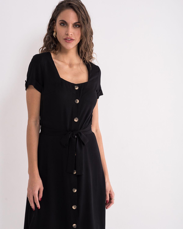Crna viskozna haljina