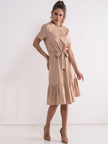 Viskozna bež haljina