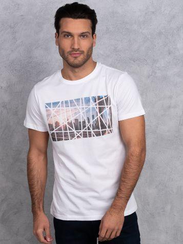 Majica sa modernim printom grada