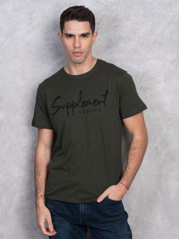 Muška tamno zelena majica