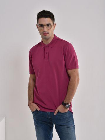Majica sa kragnom u ciklama boji