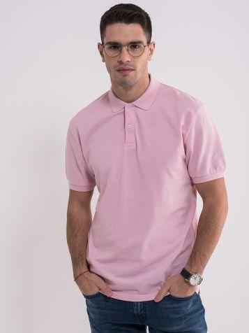 Muška roze majica sa kragnom