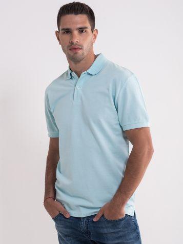 Svetlo plava majica sa kragnom