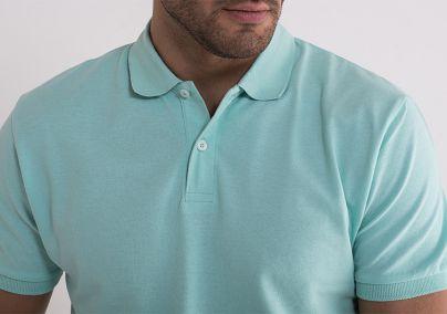 Svetlo tirkiz majica sa kragnom