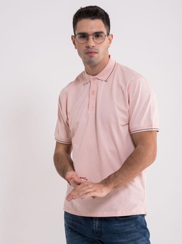 Muška puder majica sa kragnom