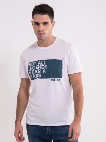 Muška bela majica sa natpisom