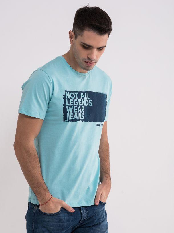 Tirkiz majica sa printom