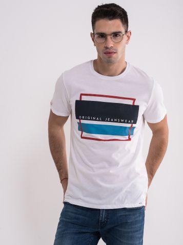 Muška casual bela majica