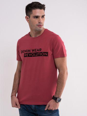 Crvena denim wear majica