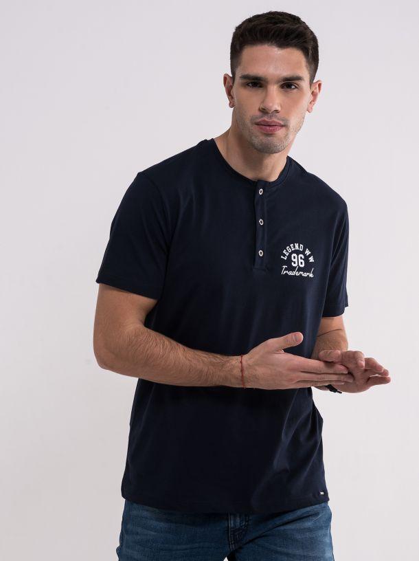 Teget majica sa dugmićima